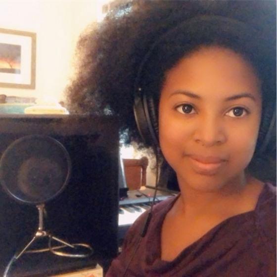 Jordan Cobb, who plays Nia, remotely recording