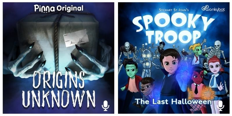 Pinna Original podcast Origins Unknown and Spooky Troop the Last Halloween podcast